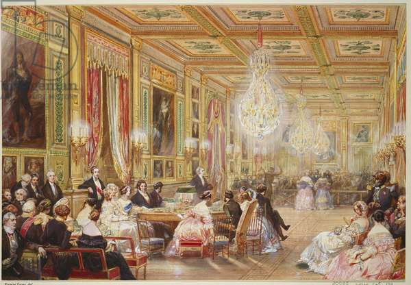 Royal visit to Louis-Philippe: concert in the Galerie des Guises, 4 September 1843, dated 1843 (w/c on paper)