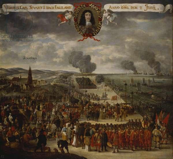The Departure of Charles II from Scheveningen, c.1660-85 (oil on canvas)