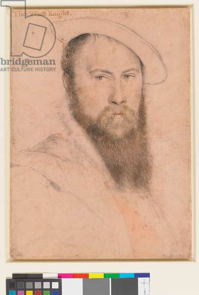 Sir Thomas Wyatt (c.1503-1542), c.1535-37 (black and coloured chalks, and pen and ink on pale pink prepared paper)