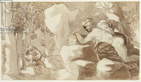 Polyphemus, Acis and Galatea (pen & ink on paper)