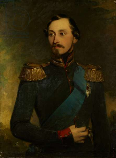 Ernest II, Duke of Saxe-Coburg-Gotha, March 1848 (oil on canvas)