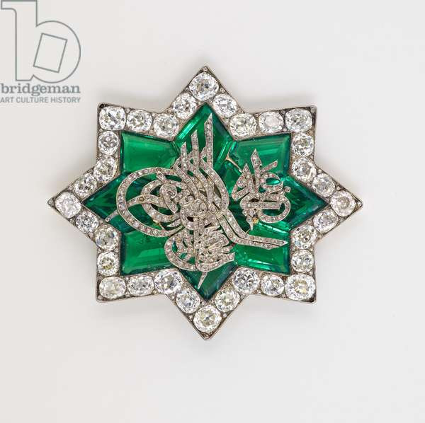 Brooch, c.1838 (silver & gold with emeralds and diamonds)