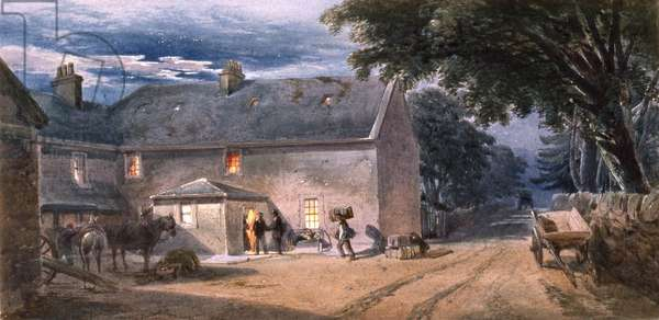 Farm at Dalwhinnie, 1862 (w/c on paper)