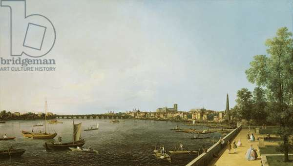 The Thames from Somerset House towards Westminster, c.1750 (oil on canvas)