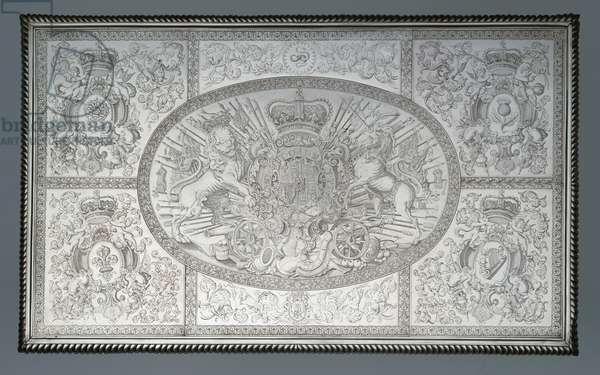 Side table, 1698-99 (silver & oak)