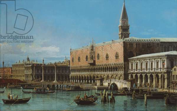 The Molo with the prisons and the Doges' Palace, 1743 (oil on canvas)