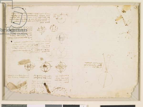 Verso: Studies of geometry c. 1510-13 (pen and ink)