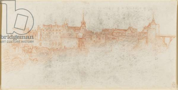 The Chateau of Amboise, c.1517-19 (chalk on paper)
