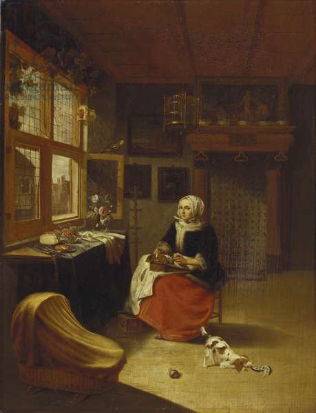 The Lace Maker, c.1670 (oil on panel)