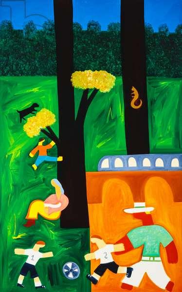 The park,2001,(oil on linen)