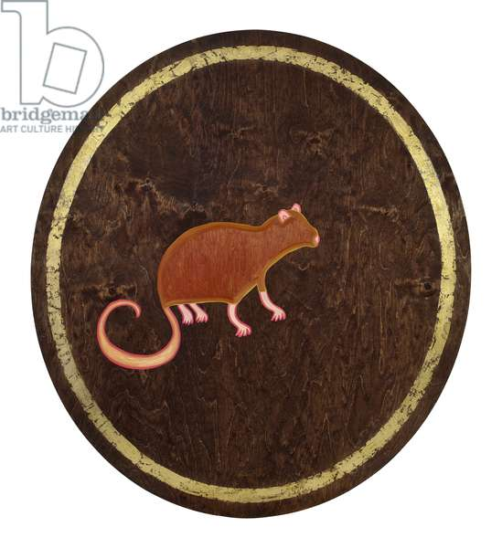 The Rat, 2009, (gilded birch plywood)