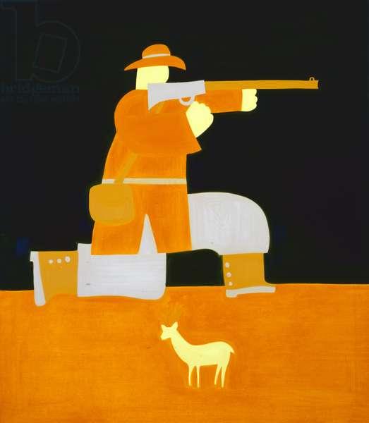 The Hunter, 1998, (oil on linen)