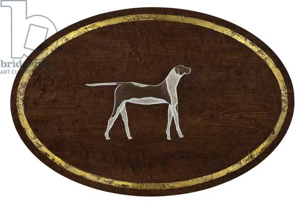The Dog, 2009, (gilded birch on plywood)