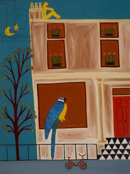 The parrot from Shepherd's Bush, 2007 (oil on linen)