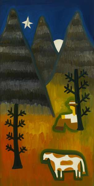 In the silence of the mountain, 2007 (oil on linen)