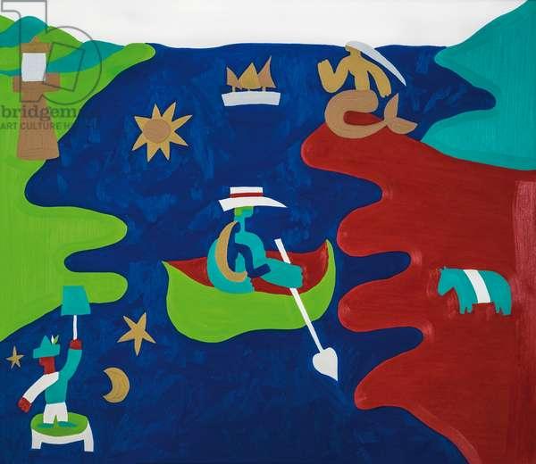 Love boat, 1996, ( oil on linen)