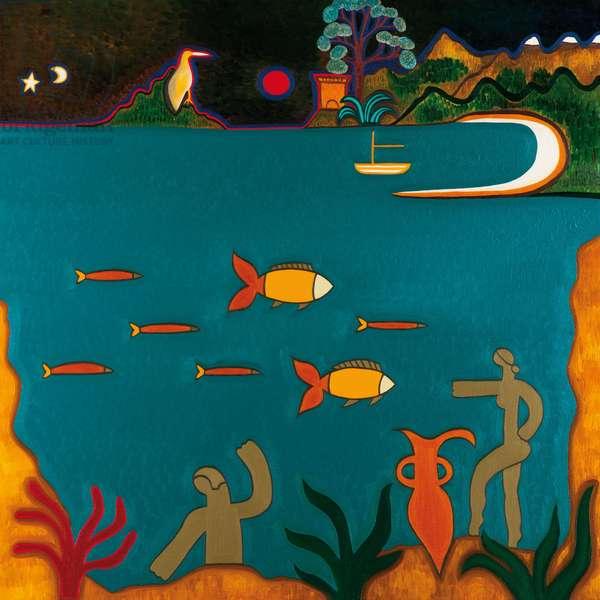 Les trésors romaines au fond de la mer méditerranéen, 2014, (oil on linen)