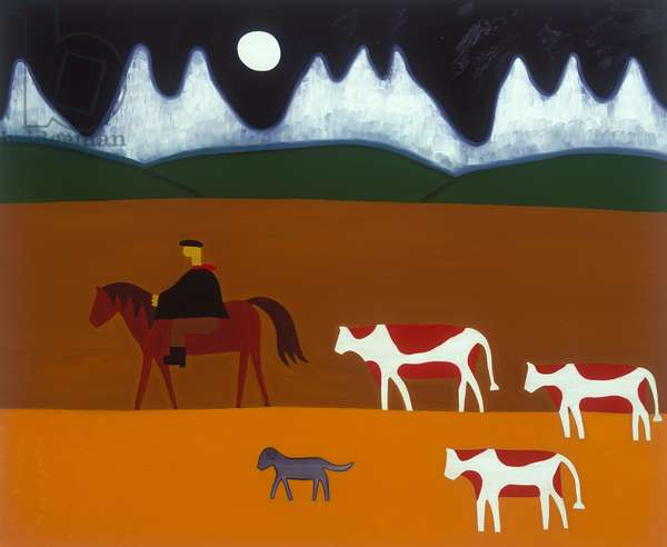 The gaucho and his cattle, 2006, (oil on linen)