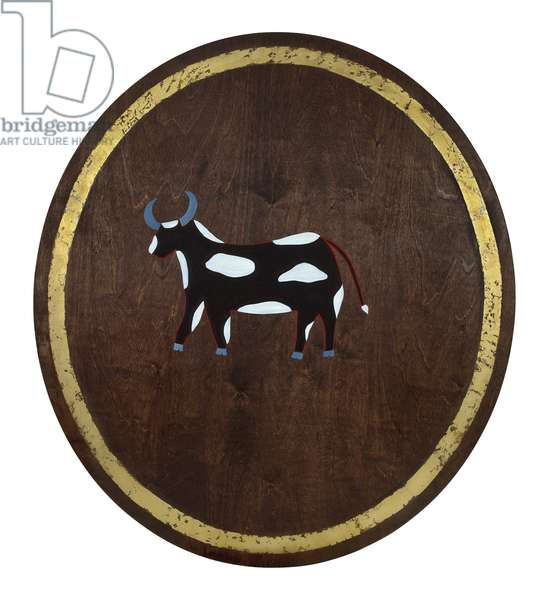 The Ox, 2009, (gilded birch plywood)
