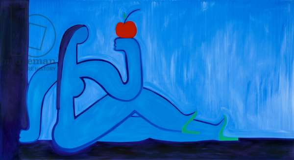 Eve and the apple,1998,(oil on linen)