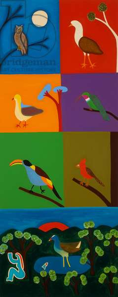 Birds that visit the valley of Bogota, 2008, (oil on linen)