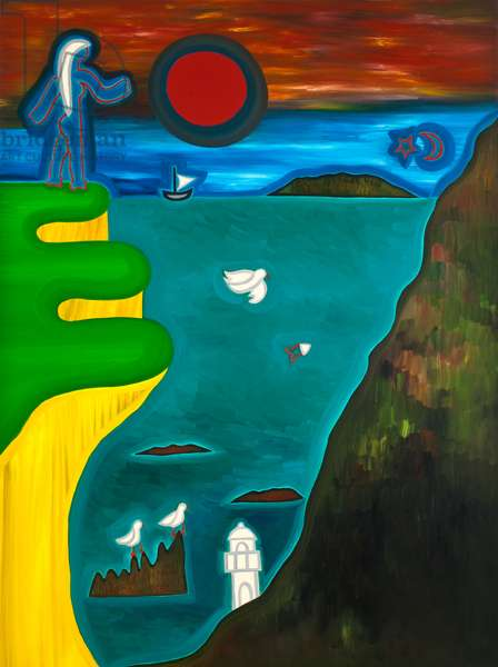The coast of England, 2010, (oil on canvas)