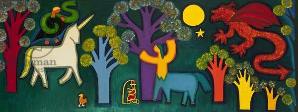 El bosque mágico de Lucas, 2009, (oil on linen)