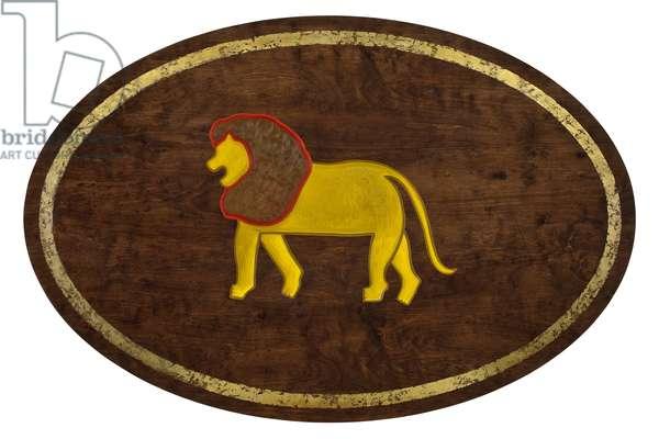 Leo, 2008, (gilded birch plywood)