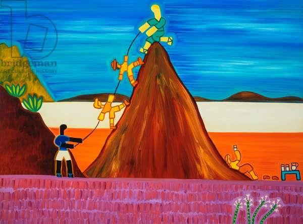 The reward after the hazardous climb,2003,(oil on linen)