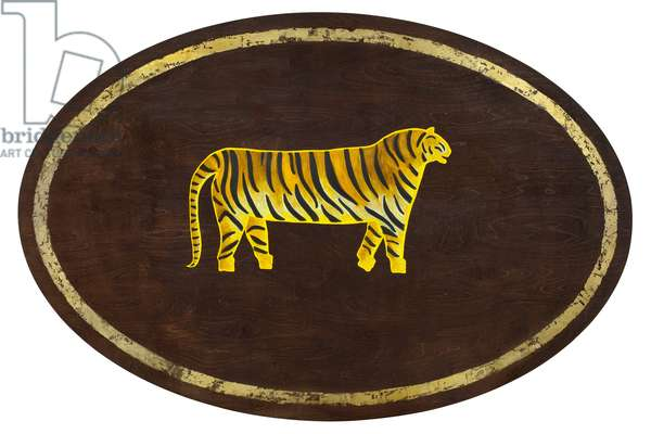 The Tiger, 2009,(gilded birch on plywood)