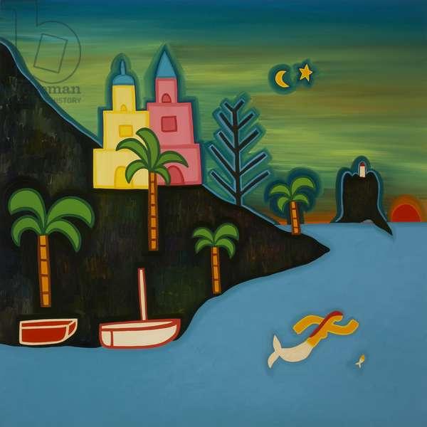 The volcanic island, 2008, (oil on linen)