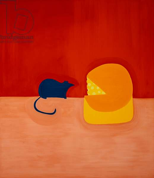 Mouse and the Cheese,1998,(oil on linen)
