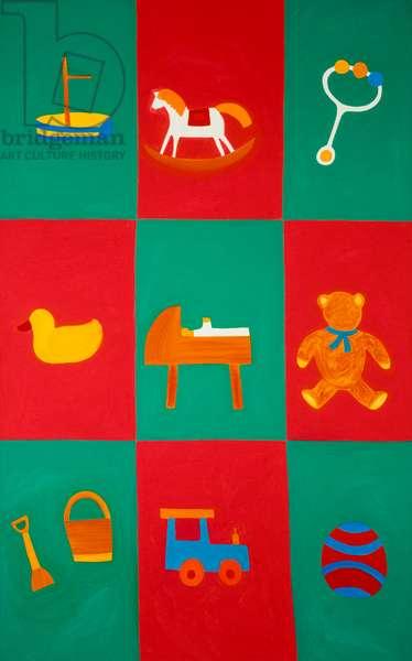 The nursery, 2001, (oil on linen)