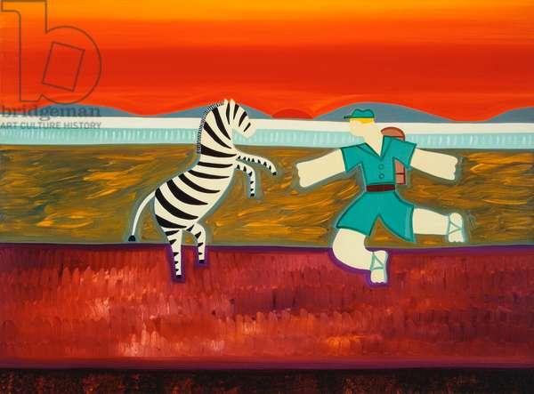 The scene that never happened,2003,(oil on linen)
