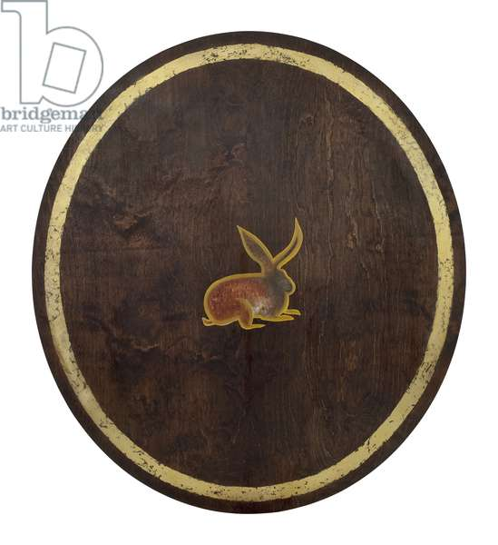 The Hare, 2009, (gilded birch on plywood)