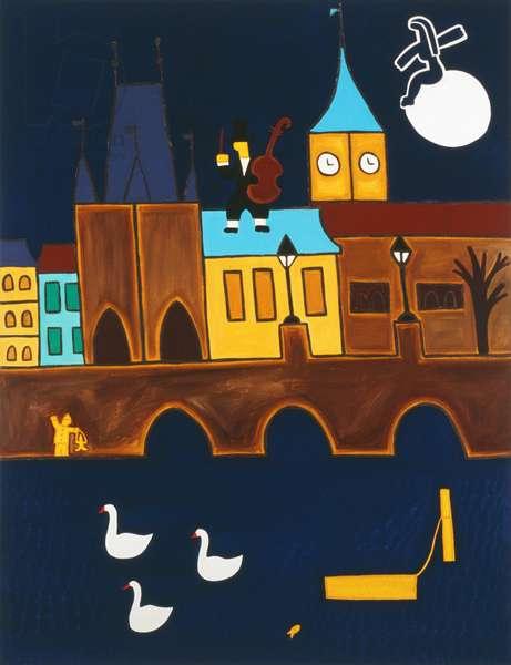Magical Prague, 2002,(oil on linen)