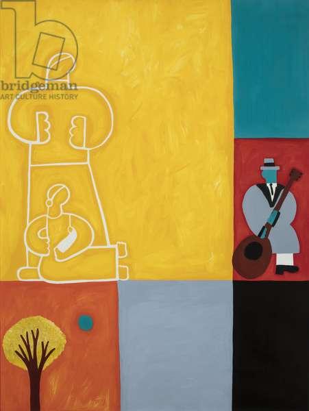 The family, 2001 ,(oil on linen)