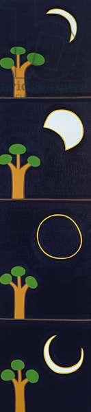 Moon eclipse, 2017, (oil on linen)