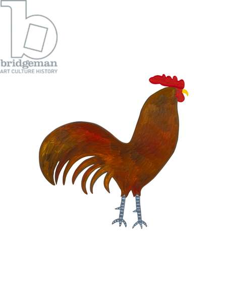 The Rooster (Chinese Horoscope),2009 ,(oil on birch plywood)