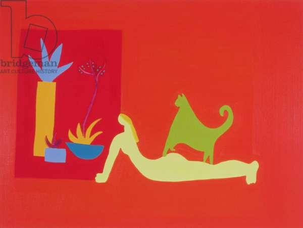 La espera, 1996, (oil on linen)