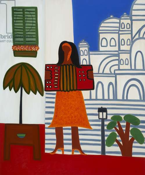 The gypsy girl in front of Sacré Coeur, 2006, (oil on linen)