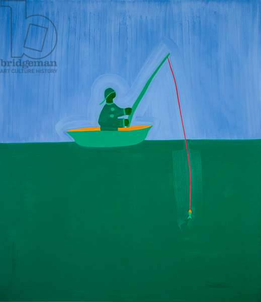 Fisherman;1998,(oil on linen)