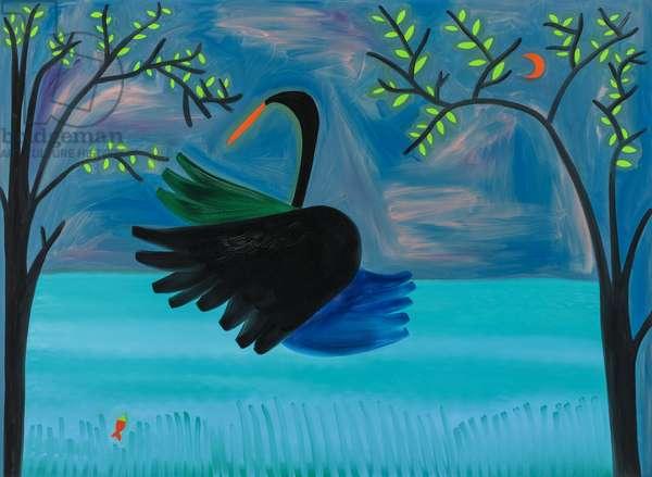 The Black Swan,1997, (oil on linen)