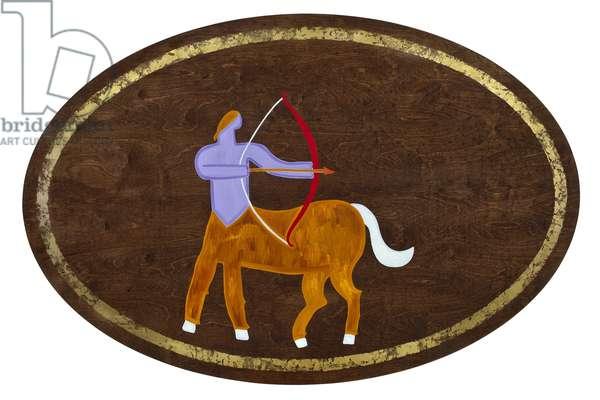 Sagittarius, 2008, (gilded birch plywood)