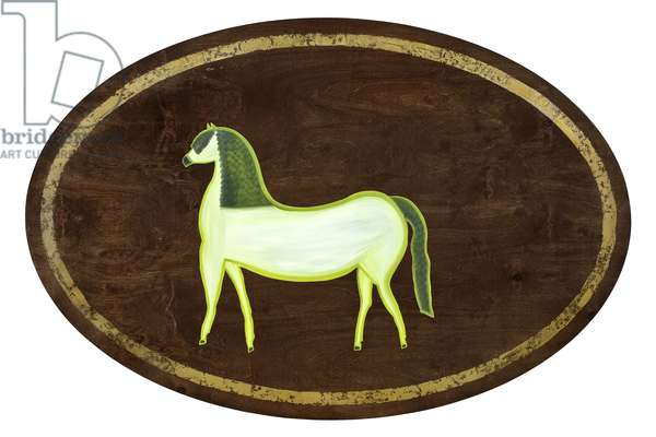 The Horse, 2009, (gilded birch on plywood)