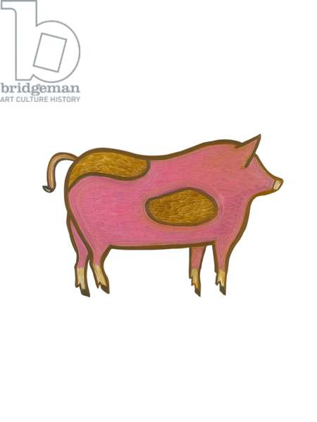 The  Pig (Chinese Horoscope),2009, (oil on birch plywood)