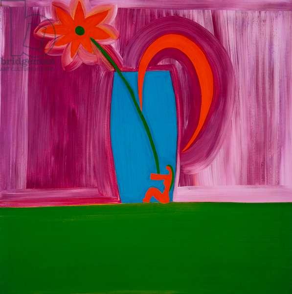 Flowervase,1998,(oil on linen)