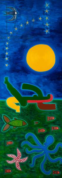 The moon was travelling in Scorpio, 2014, (oil on canvas)