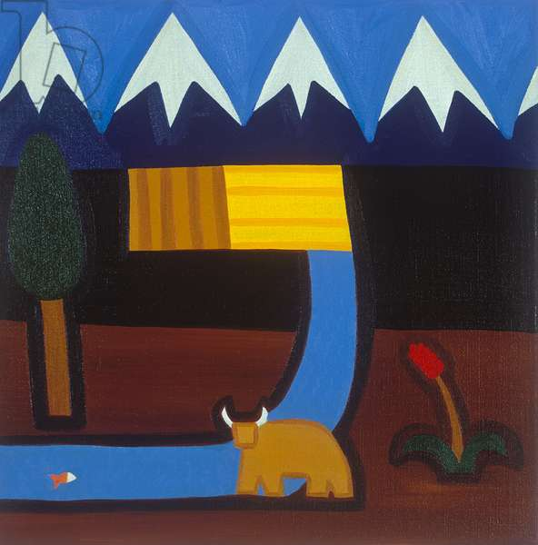 In the Peruvian mountains, 2006, (oil on linen)
