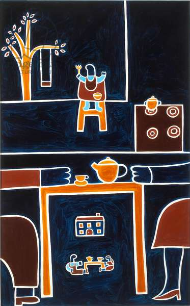 The meals II,2001,(oil on linen)